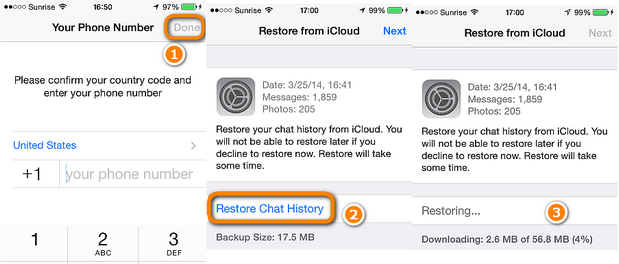 how to read my backup whatsapp messages