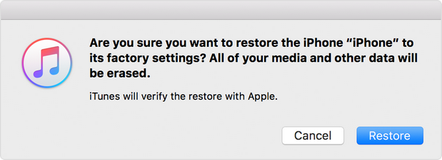 restore itunes backup now